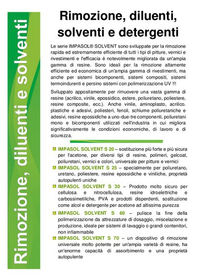 Impasol catalogo Solvent IT
